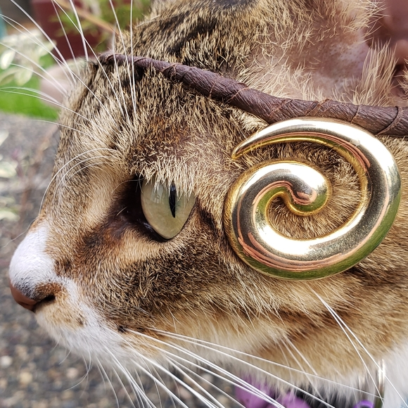 Funky As Hell 80's Oversized Gold Spiral Earrings